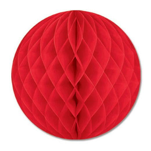 "Valentine's Day Decorations 12"" Red Tissue Ball Image"