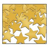 New Years Decorations Gold Metallic Stars Confetti Image
