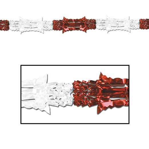 Valentine's Day Decorations Red and White Metallic Garland Image