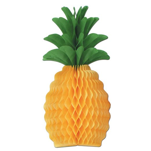 "Luau Decorations 12"" Tissue Pineapple Image"