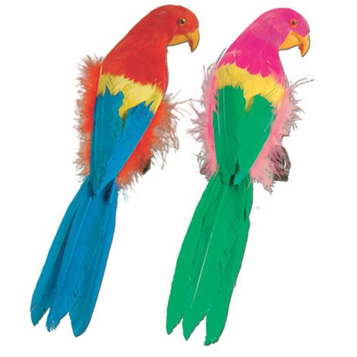 "Cinco de Mayo Decorations 12"" Feathered Parrot Image"