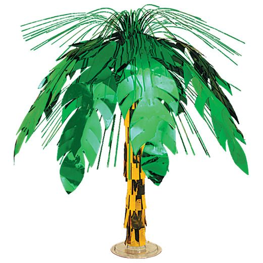 Luau Decorations Palm Tree Cascade Centerpiece Image