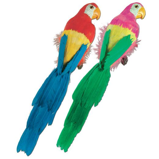 "Cinco de Mayo Decorations 20"" Feathered Parrot Image"