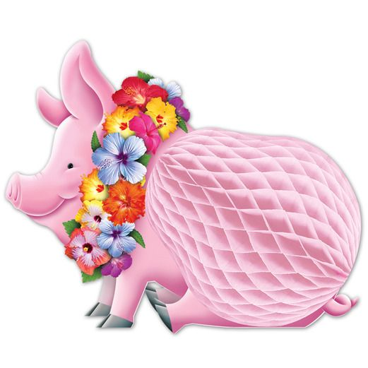Luau Decorations Luau Pig Centerpiece Image
