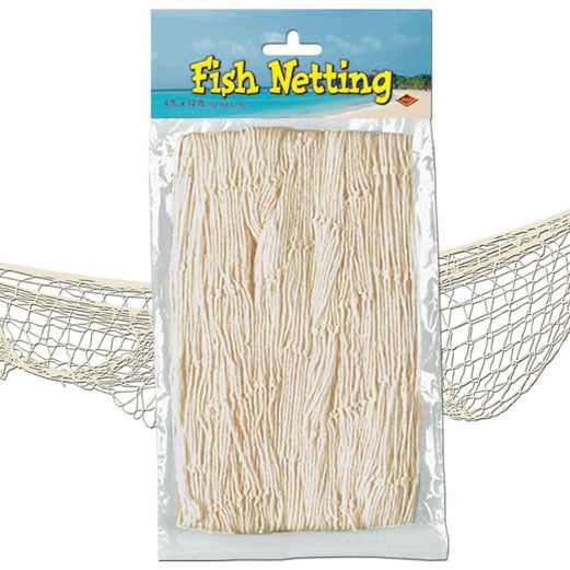Luau Decorations Natural Color Fish Net Image