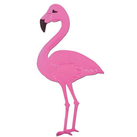 Luau Decorations Flamingo Cutout Image