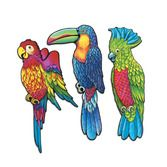 Luau Decorations Exotic Bird Cutouts Image