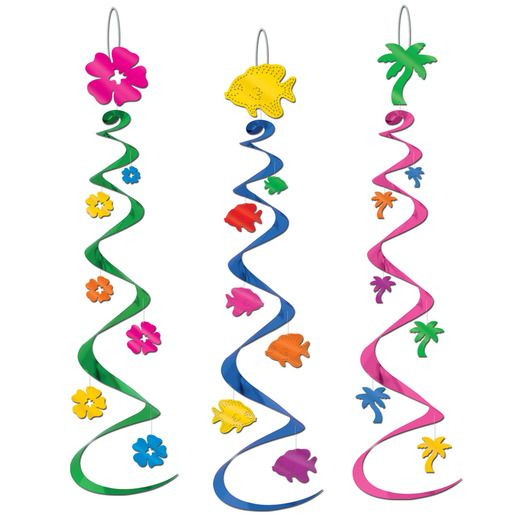 Luau Decorations Luau Whirls Image
