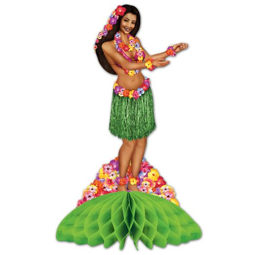 Luau Decorations Hula Girl Centerpiece Image