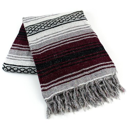 Burgundy Mexican Blanket
