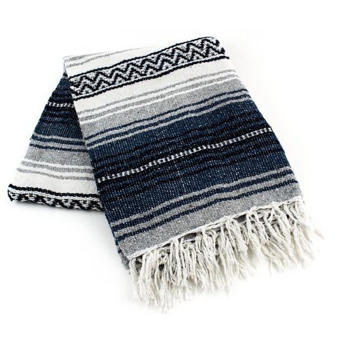 Navy Blue Mexican Blanket