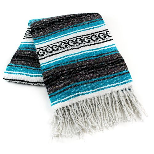 Turquoise Mexican Blanket