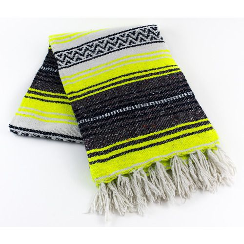 Neon Yellow Mexican Blanket