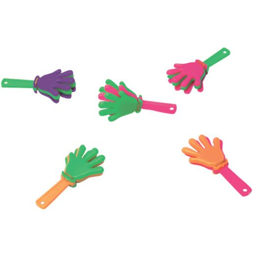 New Years Favors & Prizes Mini Hand Clappers Image