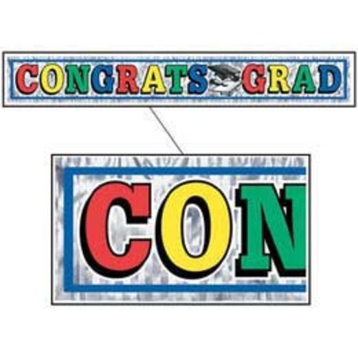 Graduation Decorations Congrats Grad Fringe Banner Image