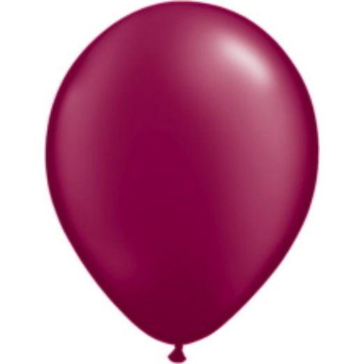 "Thanksgiving Balloons 11"" Qualatex Pearl Burgundy Balloons Image"