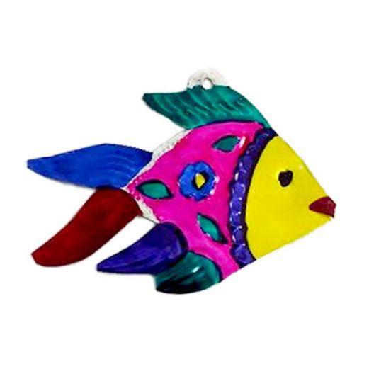 Fiesta Decorations Tropical Fish Tin Ornament Image