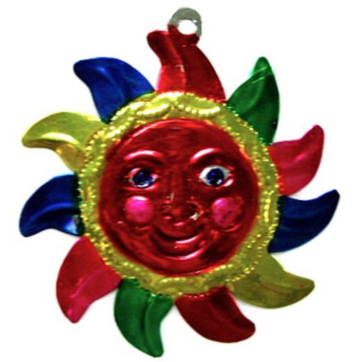 Cinco de Mayo Decorations Sun Tin Ornament Image