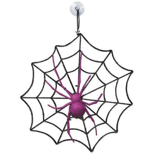 Halloween Decorations Spider and Web Decoration Image