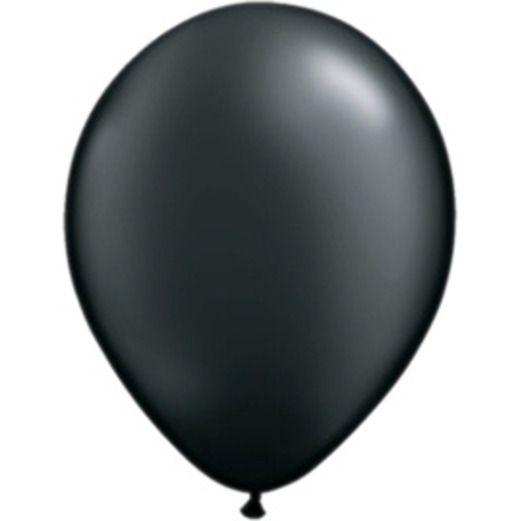 "New Years Balloons 11"" Metallic Black Balloons Image"