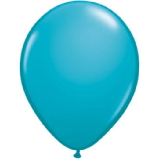 "Luau Balloons 11"" Qualatex Tropical Teal Balloons Image"