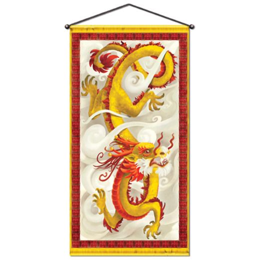 International Decorations Dragon Door / Wall Panel Image