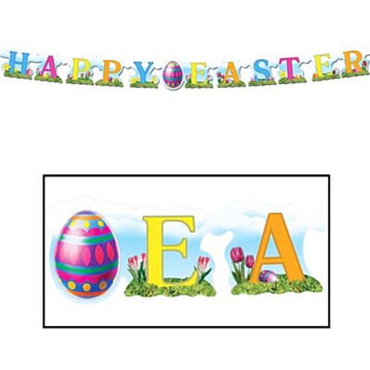 Easter Decorations Happy Easter Streamer Image