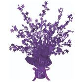 Mardi Gras Decorations Purple Starburst Centerpiece Image