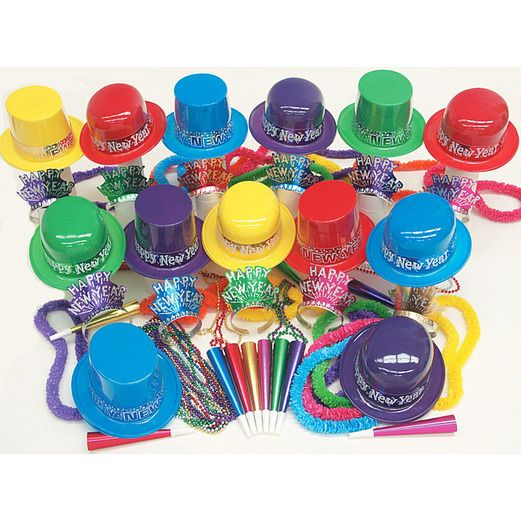 New Years Party Kits Technicolor for 100 Image