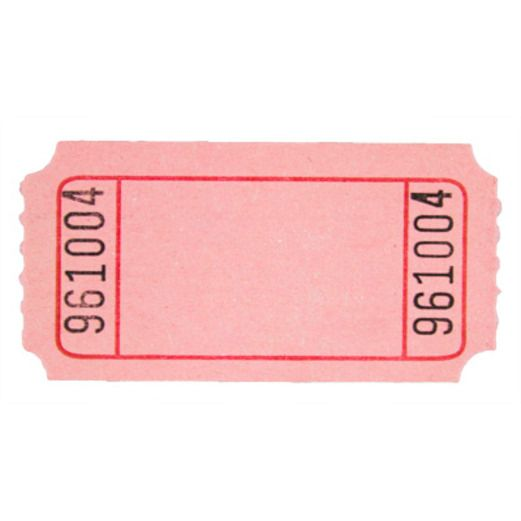 Tickets & Wristbands Pink Blank Ticket Roll Image