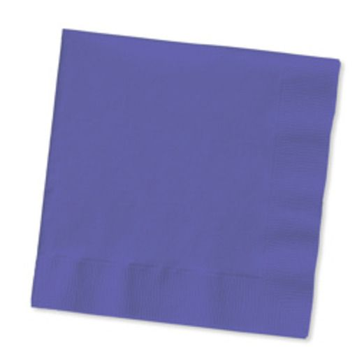 Mardi Gras Table Accessories Purple Beverage Napkins Image