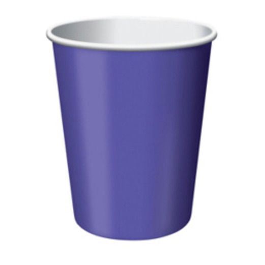 Mardi Gras Table Accessories Purple Cups Image