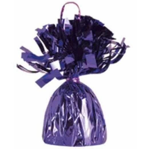 Mardi Gras Balloons Purple Metallic Balloon Weight Image