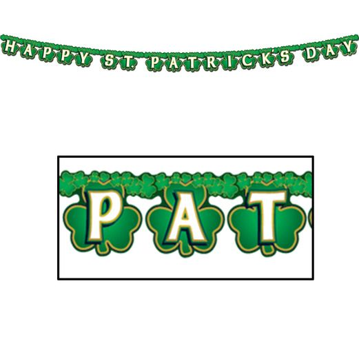 St. Patrick's Day Decorations Shamrock St. Patricks Streamer Image