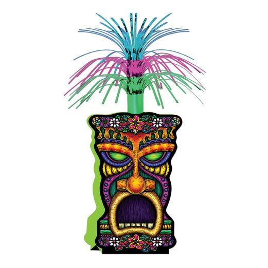 Luau Decorations Tiki Centerpiece Image