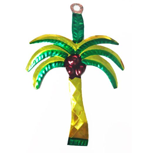 Fiesta Decorations Palm Tree Tin Ornament Image