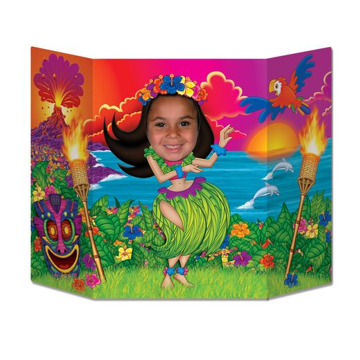 Luau Decorations Hula Girl Photo Prop Image