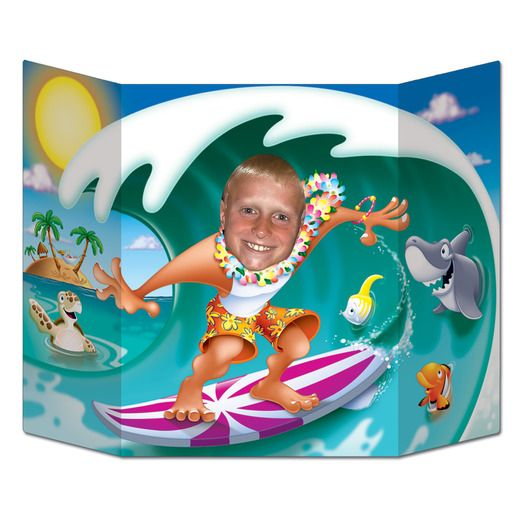 Luau Decorations Surfer Dude Photo Prop Image