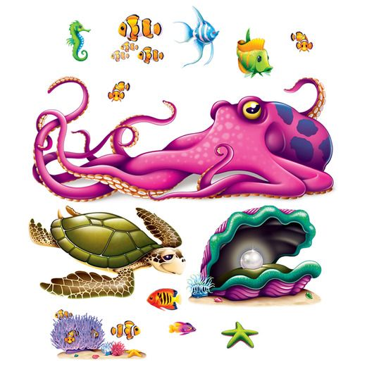 Luau Decorations Sea Creature Props Image