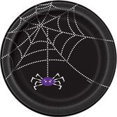 Halloween Table Accessories Spider Web Dinner Plates Image
