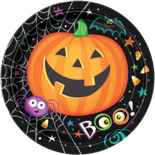Halloween Table Accessories Pumpkin Pals Dessert Plates Image