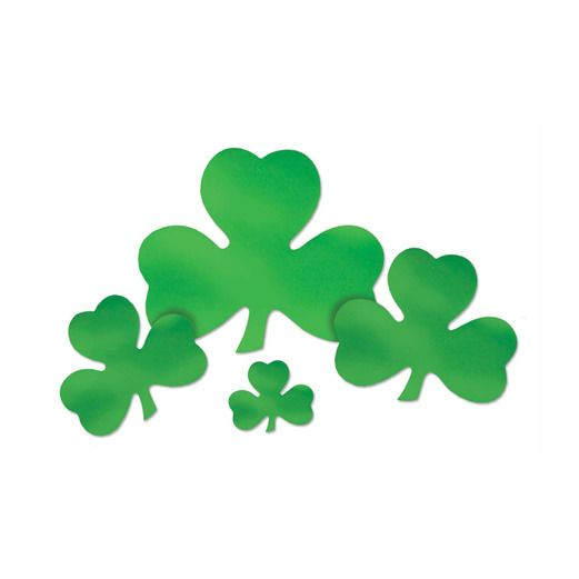 "St. Patrick's Day Decorations 9"" Foil Shamrock Cutout Image"