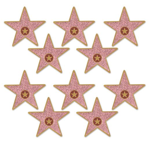Awards Night & Hollywood Decorations Mini Star Cutouts Image