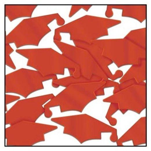 Red Grad Caps Confetti