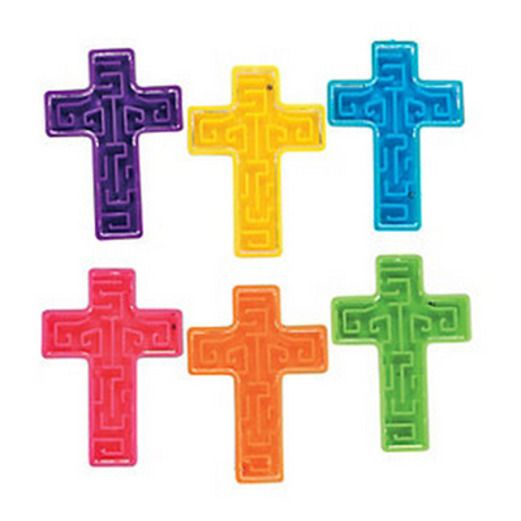 Easter Favors & Prizes Mini Cross Maze Puzzles Image