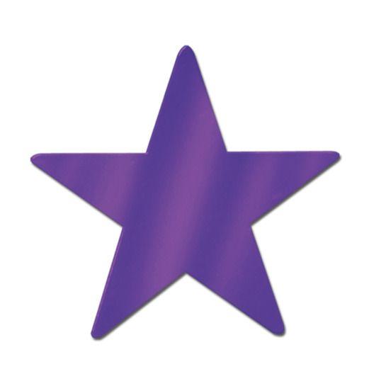 "Mardi Gras Decorations 15"" Purple Foil Star Image"