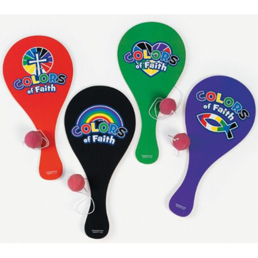 Easter Favors & Prizes Colors of Faith Paddleballs Image