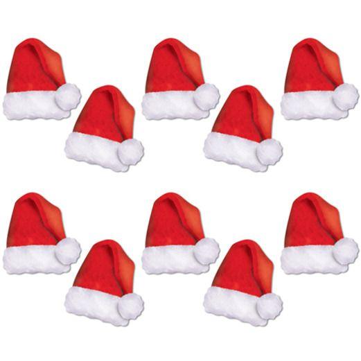 Christmas Decorations Mini Santa Hat Cutouts Image