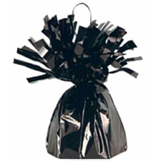 New Years Balloons Black Metallic Balloon Weight Image