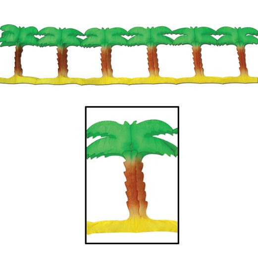 Luau Decorations Palm Tree Garland Image